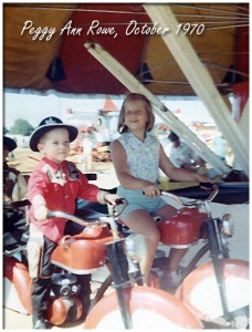 1970 riding on a carnival ride with a cousin.