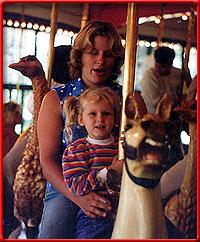 Author & child, ca. 1985, Golden Gate Park, San Francisco.