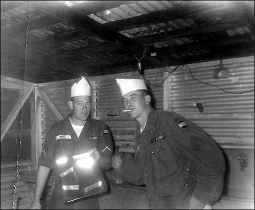 Alvin C Rowe and co-worker in the Army